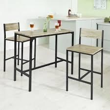 SoBuy® OGT03 Ensemble table de bar + 2 chaises, Set de 1 Table + 2 ...