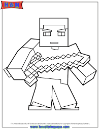 Herobrine With Sword Coloring Page Minecraft Coloring Pages