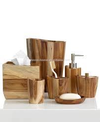 Dark Wood Bathroom Accessories Natural Wooden Bath Setswood Bathroom Accessories Products Buy