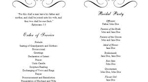 Wedding Programs Template Word Major Magdalene Project Org