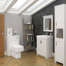 White Bathroom Suite Chatsworth 3 Piece Traditional White Suite Victorian Plumbingcouk