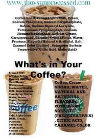 all the additives in a caramel iced coffee from mcdonald s dunkin donuts and starbucks
