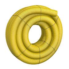 4 x 100 corrugated yellow solid drain pipe