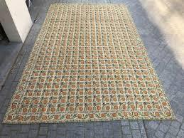 large vintage aubusson needlepoint rug 1