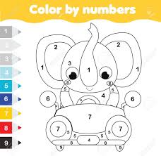 Up to 12,854 coloring pages for free download. Coloring Page For Kids Educational Children Game Color By Numbers Royalty Free Cliparts Vectors And Stock Illustration Image 124960604