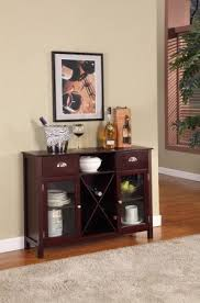 buffet with wine rack. Simple With Buffet Server  Wine Rack Finish Cherry On With F