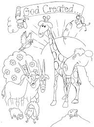 Creation Coloring Pages Printable Free Bible For Kids Inside With