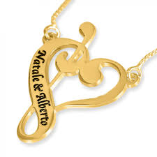name necklace al heart pendant 24k gold plated silver namefactory