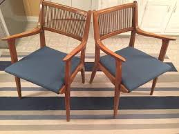 mid century modern danish inspired drexel profile dining room chair set