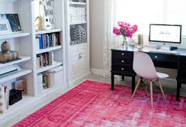 rug for office. Pink Rug Office For
