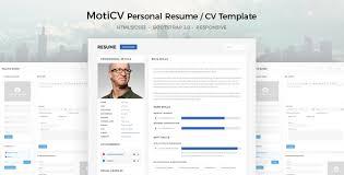 resume web templates moticv resume cv html5 template by directorythemes themeforest