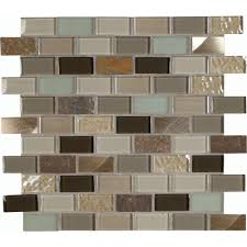 Autumn Leaves  In X  In X  Mm Glass Stone Metal Mesh - Backsplash tile home depot 2