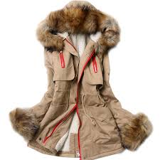 plus size parka winter 2014 womens slim with a hood large fur collar wadded jacket