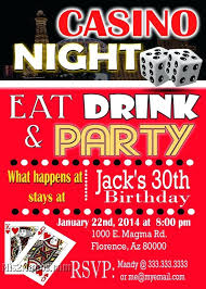 chic sign party invitation las vegas themed invitations wording art style printable birthday party invitation any age las