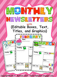 Preschool Newsletter Template Mesmerizing The Kissing Hand And Editable Newsletters Education Pinterest