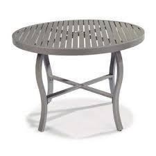 daytona charcoal gray round aluminum outdoor dining table home styles daytona