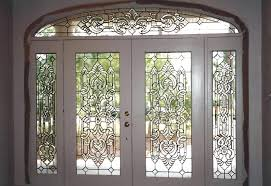 beveled glass entry unit with transom 9 ft x leaded front doors stained door
