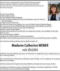 Hommages - Pour que son souvenir demeure: Catherine WEBER BUGNA