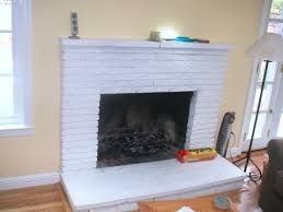 painted white brick fireplaceFireplace RemodelingRefacing Pictures