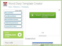 microsoft word diary template how to make a computer diary with sample diary wikihow