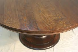 Round Table Pedestal Amish Traditional Round Pedestal Dining Table