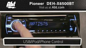 pioneer bluetooth car stereo. demo and features of the pioneer car stereo with bluetooth - deh-x6500bt youtube d
