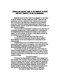 compare and contrast lamb to the slaughter by roald  page 1 zoom in