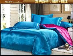 pink bed comforter green blue hot pink silk satin bedding comforter set king queen full size