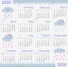 Calendar 2020 Love Blue 2020 Calendar Calendar December