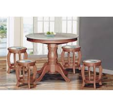 dn888 round marble dining table 4ft 6 stools marble seat top