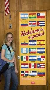 Spanish classroom door Teacher Disney Amazoncom Flags Of Spanish Speaking Countries Door Poster Everything Else Justice At Smithfield Amazoncom Flags Of Spanish Speaking Countries Door Poster