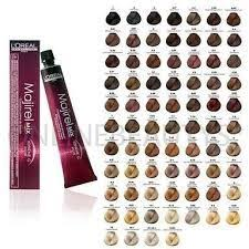 image result for l oreal majirel colour chart