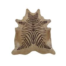brown beige rustic zebra hide rug saddlemans dau furniture st louis missouri hide rugs