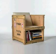 packing crate furniture. i love when the furniture has storage space furm made from shipping crates recycled materials packing crate