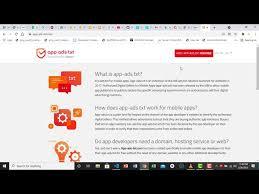hosting and adding app ads txt to admob