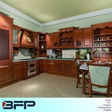 China Classic Style Solid Wood Furniture Oak Wood Kitchen Cabinet