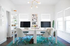 home office with two desks.  Home View Full Size Chic Office For Two  And Home Office With Two Desks E
