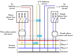 three phase wiring 3 phase power distribution to lighting circuits