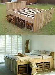 homemade wooden beds. Wonderful Wooden Awesome Diy Homemade Wooden Bed With Crate Drawers Great Idea For A  Storage Included Spare Bedroom When I Get Into New Home Inside Homemade Wooden Beds O