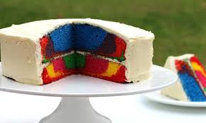 Rainbow Marble Or Layer Cake Recipe