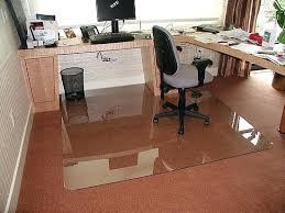 office marshal polycarbonate chair mat with lip for high pile carpet floors custom mats glass floor