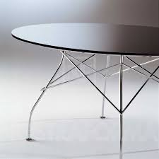 Kartell Round Table Kartell Glossy Table With Polyester Table Top Modern And