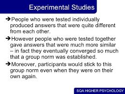 conformity obedience experimental studies 12