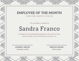 Employee Of The Month Free Online Free Employee Of The Month Certificate Templates Magdalene