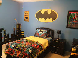 contemporary batman bedroom design ideas for kids bedroom decoration with wall decal also cool bedding plus