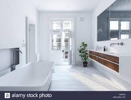 Moderne Stilvolle Weiße Städtischen Badezimmer Interieur Mit