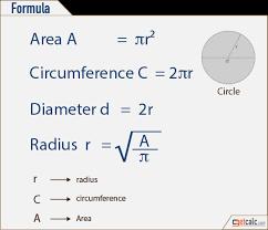 Circle Formula Chart Basis 2d 3d Geometry Shapes Formulas Pdf Download