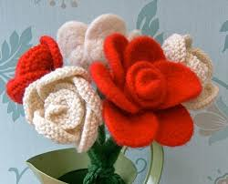Knitted Flower Pattern Impressive 48 Lovely Knit Rose Patterns On Craftsy