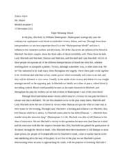 shakespeare study resources 5 pages macbeth essay