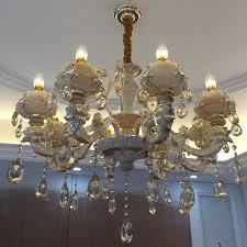 get ations zinc alloy european luxury upscale atmosphere leds jade crystal chandelier lamp living room bedroom villa restaurant
